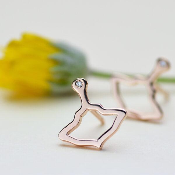 Logo Orecchini Oro Rosa Diamante