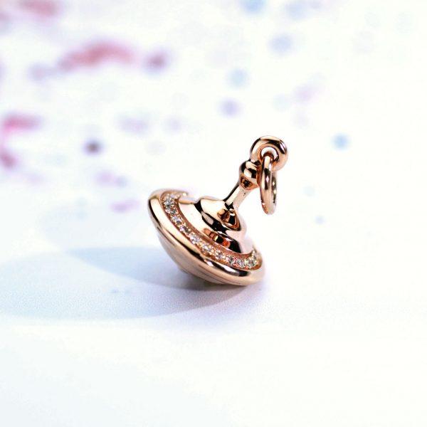 Trottola Oro Rosa e Diamanti