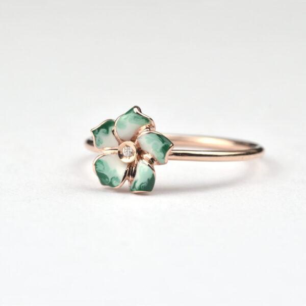 anello-petite-fleur-verde